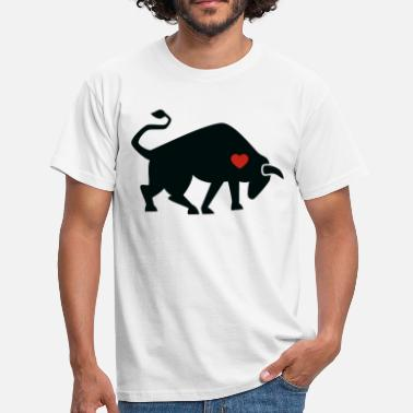Torero Bull ox cow bullfighting torero gift heart - Men's T-Shirt