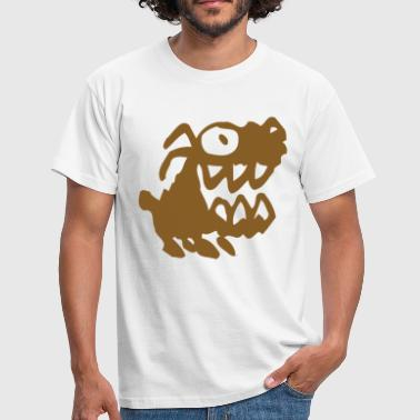 Humoristique Bow Wow! Brown Cartoon Dog by Cheerful Madness!! - Men's T-Shirt