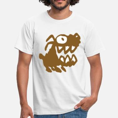 Bow Wow Bow Wow! Brown Cartoon Dog by Cheerful Madness!! - Men's T-Shirt