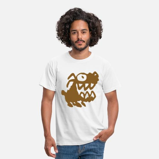 Big T-shirts - Bow Wow! Brown Cartoon Dog by Cheerful Madness!! - Mannen T-shirt wit