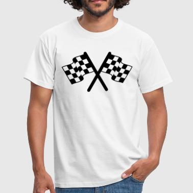 racing flags sport - Mannen T-shirt