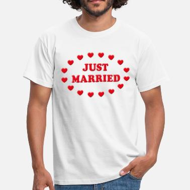 Just Married Coeurs (Mariage / Noce) - T-shirt Homme