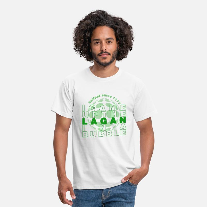 Northern Ireland T-Shirts - Up The Lagan In A Bubble - Men's T-Shirt white