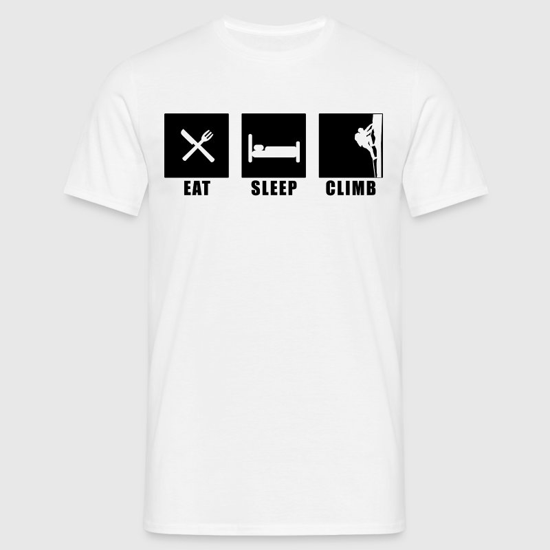 eat sleep climb - Männer T-Shirt