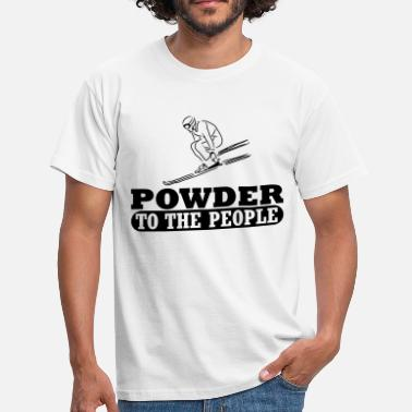 Powder Snow Powder snow ski day - Men's T-Shirt