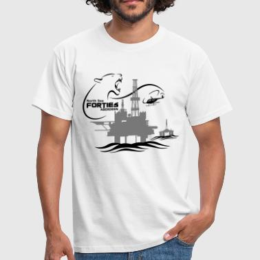Rig Forties Oil Rig Platform North Sea Aberdeen - Men's T-Shirt