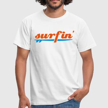 Two Coloured surfin surfboard two colours - Men's T-Shirt