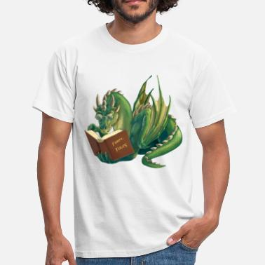 Fantasy reading dragon - Men's T-Shirt