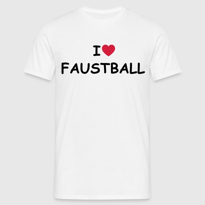 I love/heart Faustball - Männer T-Shirt