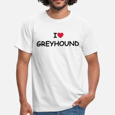 Greyhound I love/heart Greyhound - Männer T-Shirt