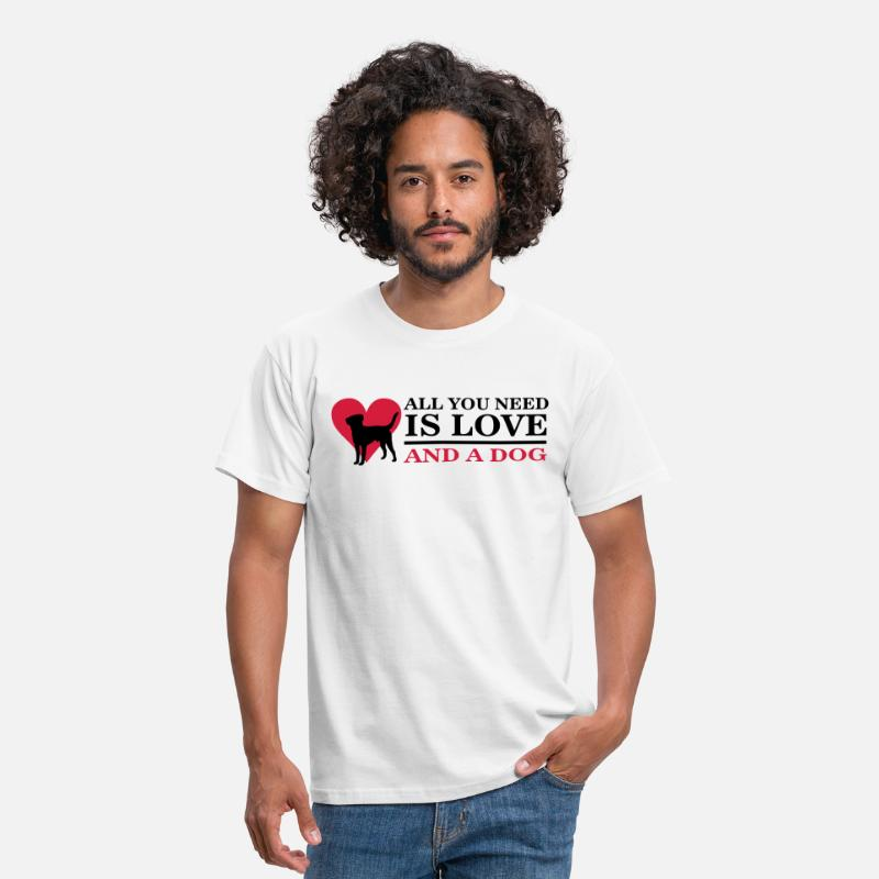 S'aimer T-shirts - All you need is love and a dog - T-shirt Homme blanc