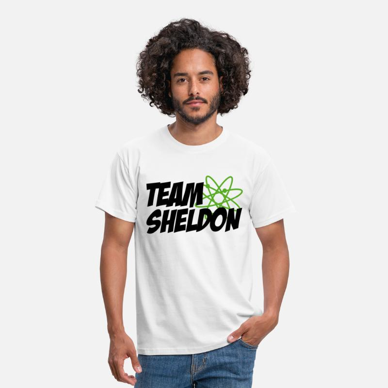 Big T-shirts - Tee shirt Homme Team Sheldon - T-shirt Homme blanc
