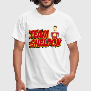 Herre T-skjorte Team Sheldon Comic - T-skjorte for menn