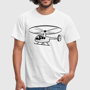 Helicopter rotor helicopter fly - Men's T-Shirt