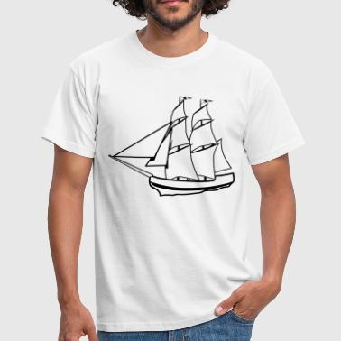 sail sailing ship old ship - Men's T-Shirt