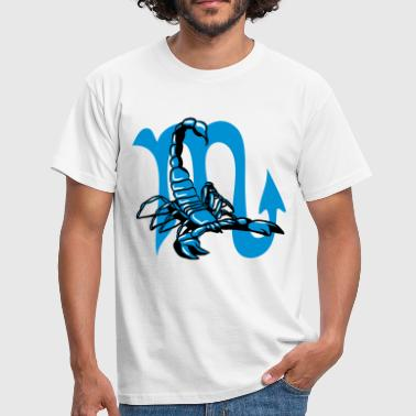Scorpion attacked horoscope sign zodiac sign - Men's T-Shirt