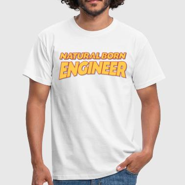 Engineering Born Natural born engineer 3col - Men's T-Shirt