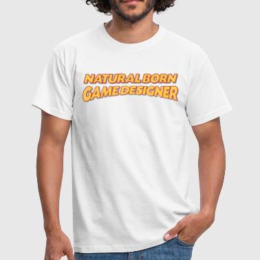 Natural Games Natural born game designer 3col - Men's T-Shirt