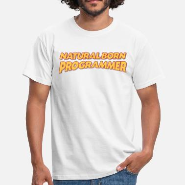 Born To Be Programmer Natural born programmer 3col - Men's T-Shirt