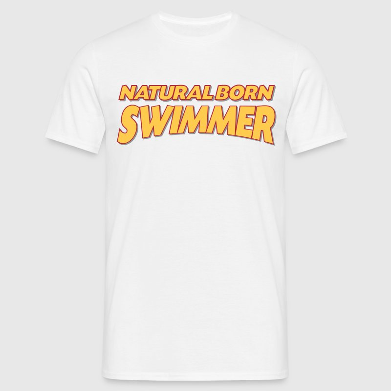 Natural born swimmer 3col - Men's T-Shirt