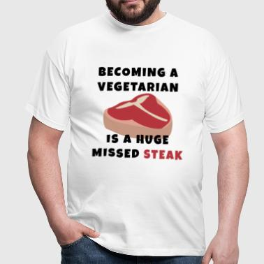 Becoming A Vegetarian - Men's T-Shirt