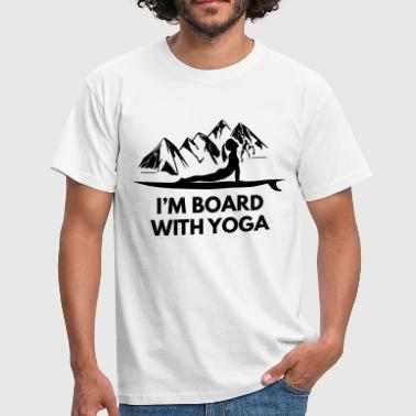 On Board With Yoga Girl And Board - Men's T-Shirt
