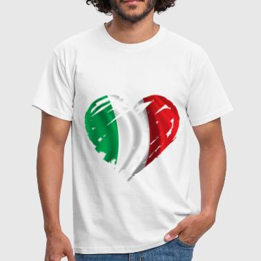 heart italy - Men's T-Shirt