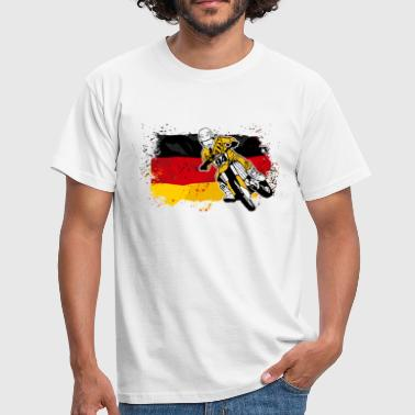 Moto Cross Racing - German Flag - Camiseta hombre