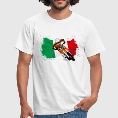 Racing Moto Cross Racing - Italy Flag - Maglietta da uomo