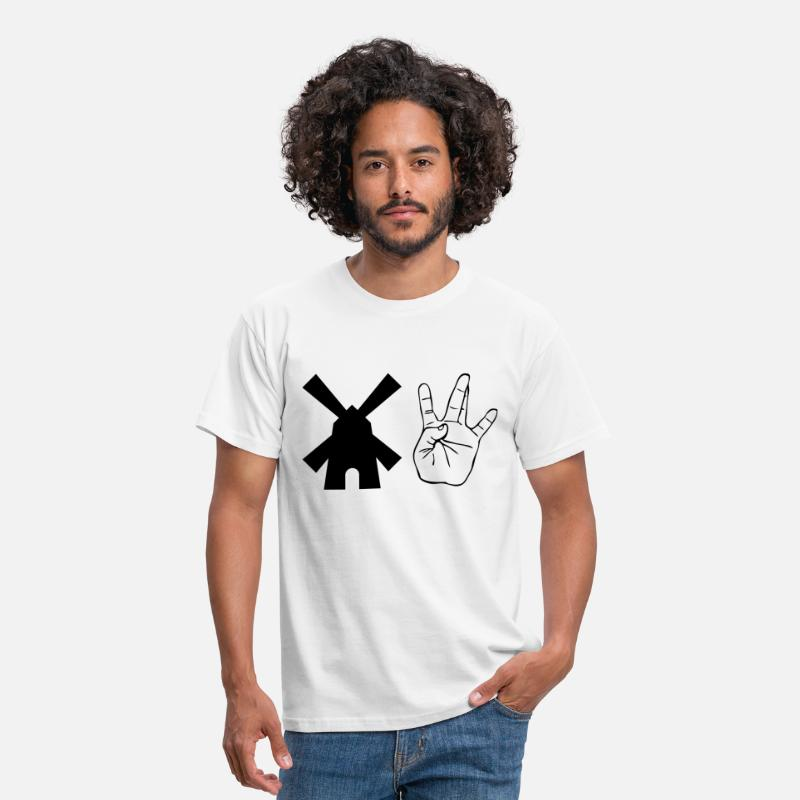 Dutch T-Shirts - Windmill Westside Hand - Men's T-Shirt white