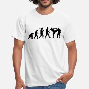 Boxing Evolution Evolution: Muay Thai/Kick Boxing - Men's T-Shirt