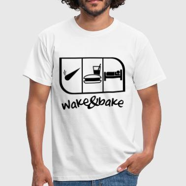 WAKE AND BAKE - Men's T-Shirt