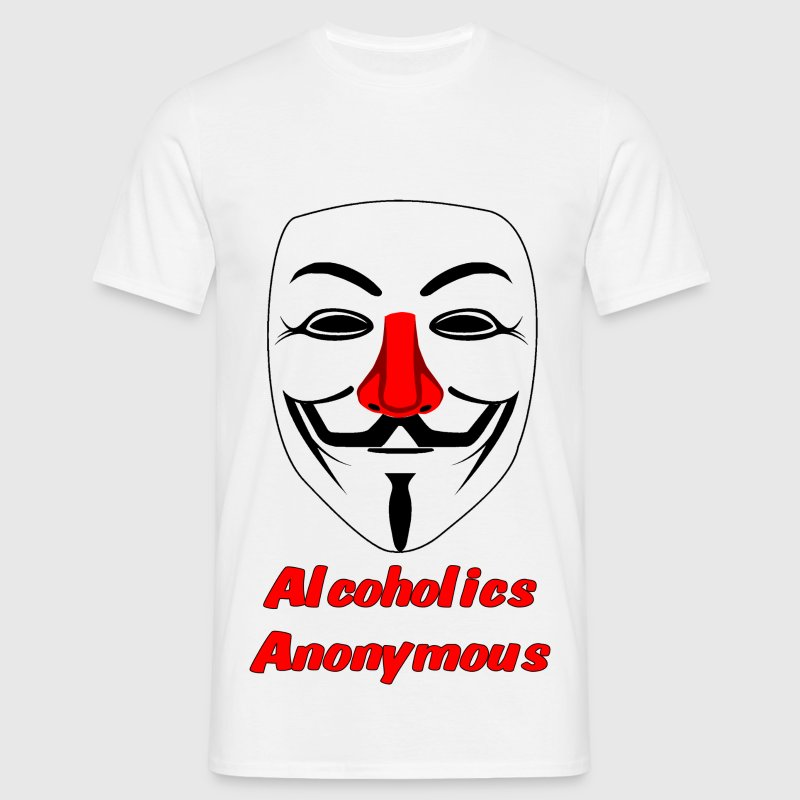 alcoholics anonymous - Mannen T-shirt