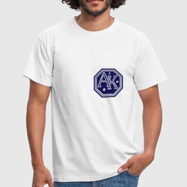 ak hexagon monogram bold capital initial letters - Men's T-Shirt
