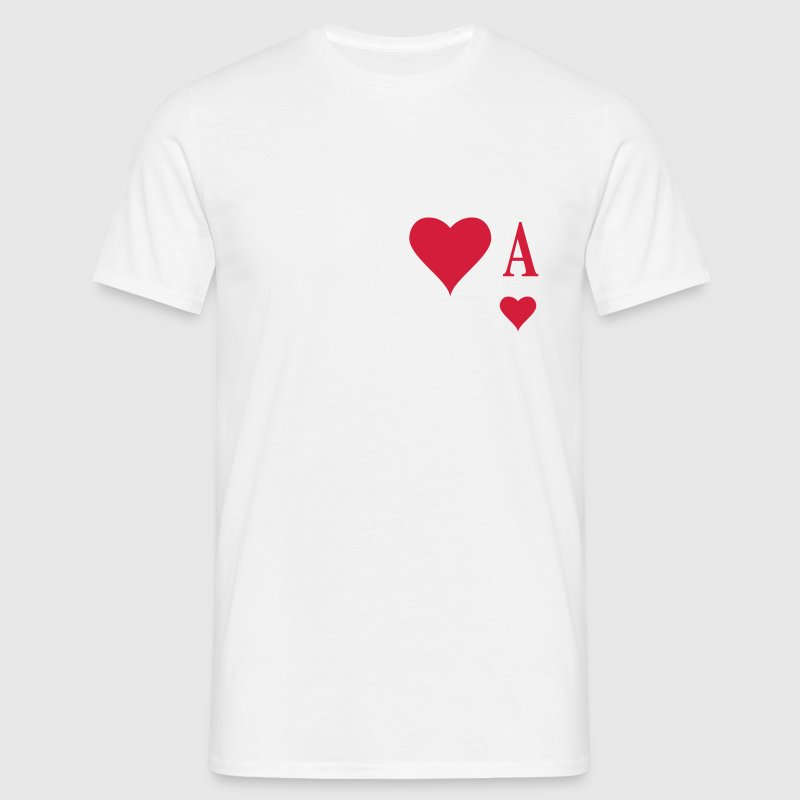 Herz Ass | Heart Ace | ace of hearts | A - Men's T-Shirt