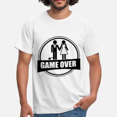 Funny Sayings Bachelor Party Game over - Stag do - Hen party - Funny - Men's T-Shirt