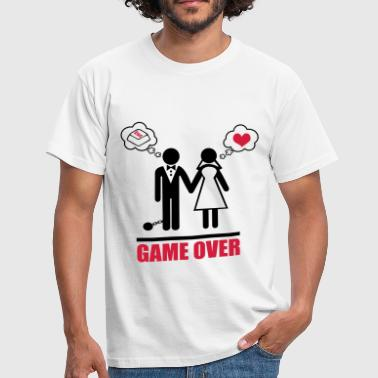 Funny Couples Game over stag do hen party night bachelor - Men's T-Shirt