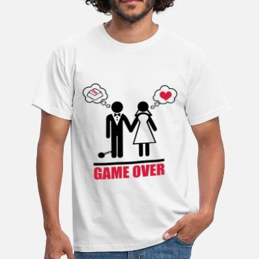 Funny Sayings Bachelor Party Game over stag do hen party night bachelor - Men's T-Shirt