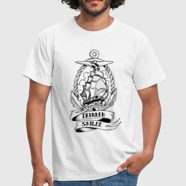 Drunken Sailor Old School - T-shirt Homme