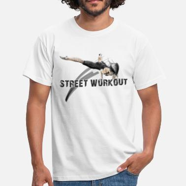 Street street workout girl - T-skjorte for menn