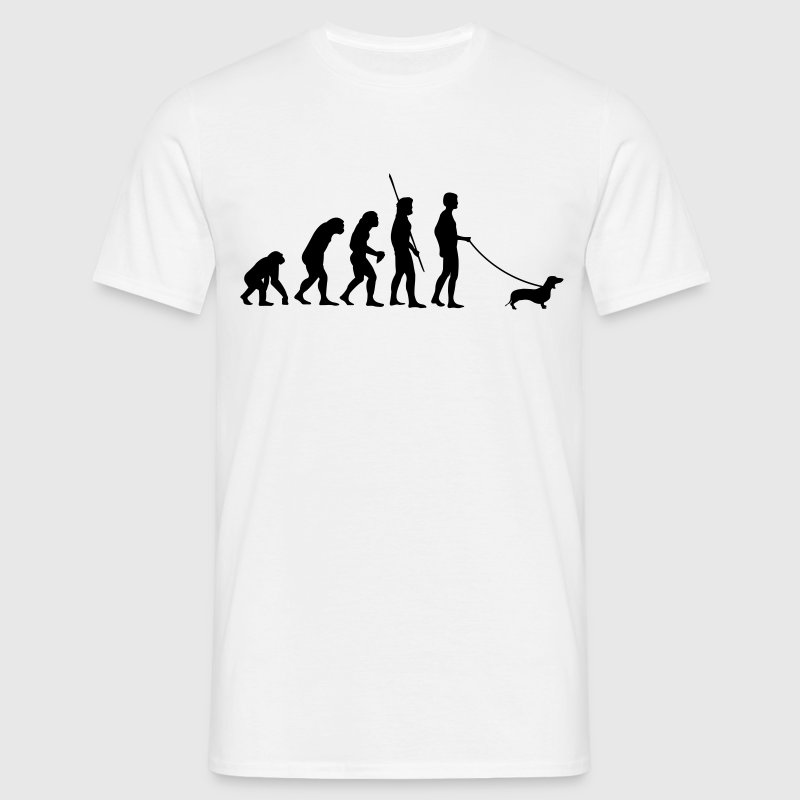 Teckel Evolutie  - Mannen T-shirt