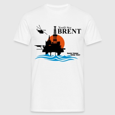 Brent Field North Sea Oil Rig Platform Aberdeen - Men's T-Shirt