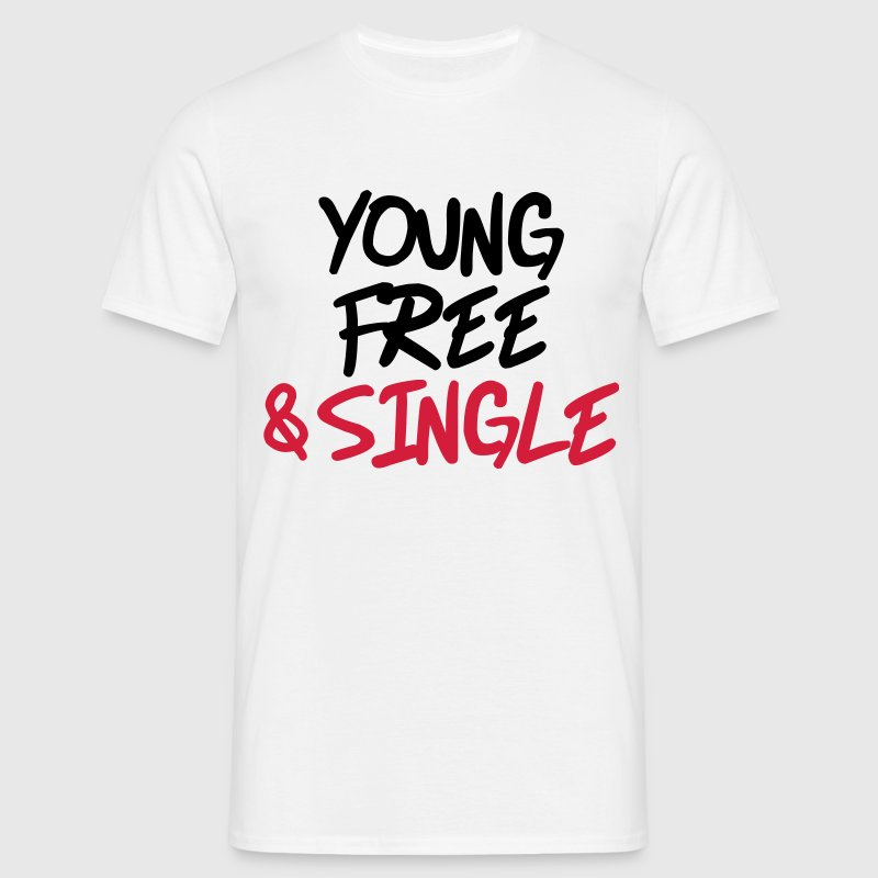 Young, free and single - Men's T-Shirt