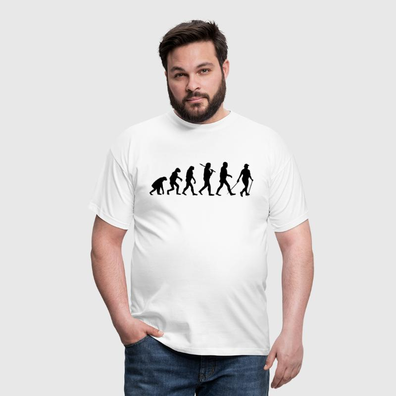 evolution of nordic walking - Männer T-Shirt