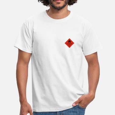 Pyro Clothing Cross clothing flammable - Men's T-Shirt