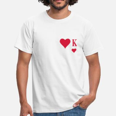 Cards Heart King | Herz König | king of hearts | K - Men's T-Shirt