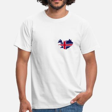 Flag Of Iceland Iceland Island Flag map - Men's T-Shirt