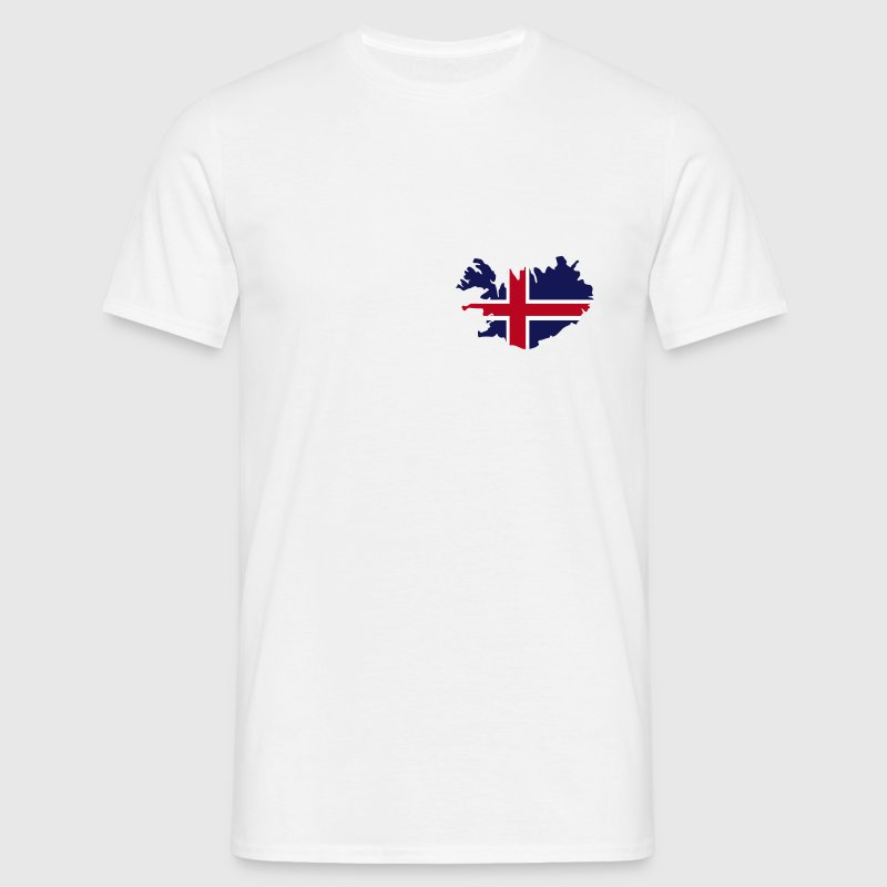 Iceland Island Flag map - Men's T-Shirt
