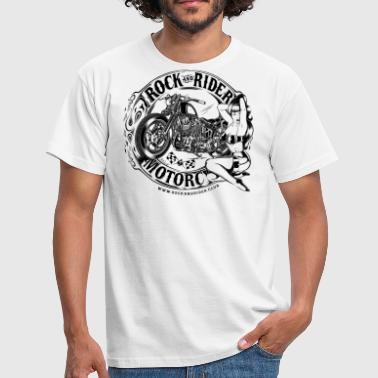 rock_and_rider_motorcycle_BW - Camiseta hombre