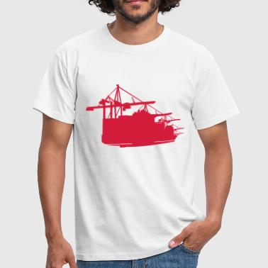 Container Hamburg Containervessel - Männer T-Shirt